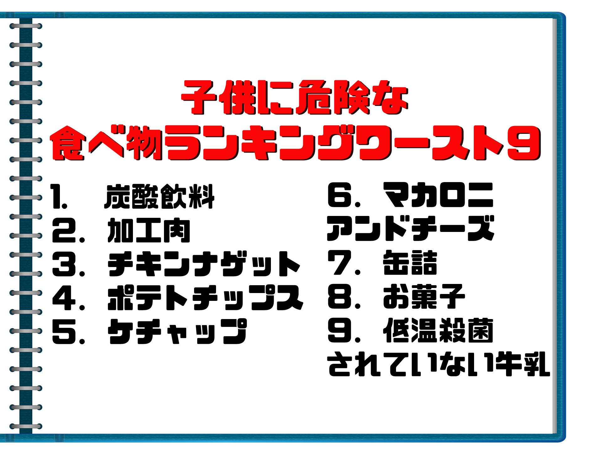 子供に危険な食べ物ランキングワースト9!